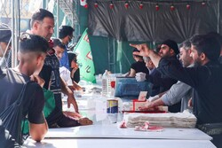 توزیع  ۱۵ هزار پرس غذا  توسط موکب های اوقاف در مرز خسروی