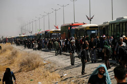 شور حسینی بدون توقف در مرز مهران/۱۸۷ موکب دراستان پذیرایی می کنند