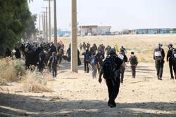 تردد روان زائران در زرباطبه عراق آن سوی مرز مهران