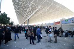 وضعیت تردد از مرز مهران در ظهر یکشنبه/تردد ۱۱۰ هزار نفر طی امروز