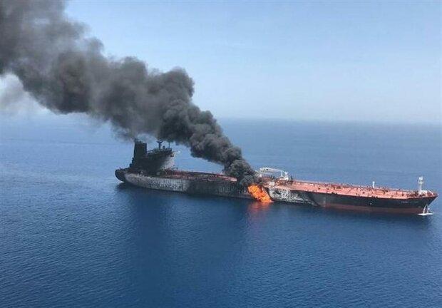 ایران کے تیل بردار جہاز پر 2 راکٹوں سے حملہ کیا گیا