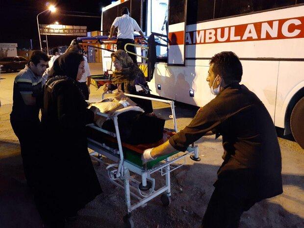 انتقال ۶۶ مجروح از تصادفات زائران ایرانی در عراق به استان ایلام