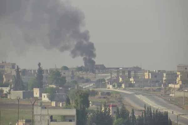 جنگ و گریز میان شبه نظامیان قسد و ارتش ترکیه در راس العین
