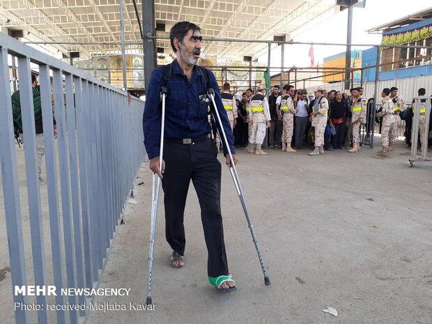 تردد زائران اربعین در پایانه مرزی مهران