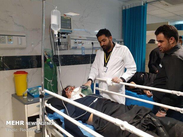 جوان ۲۲ ساله در حادثه سقوط لیفتراک مصدوم شد