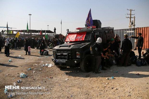 تردد روان زائران اربعین در پایانه مرزی مهران