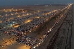 استقرار بیش از ۳۰۰ دستگاه اتوبوس برای انتقال زائران در مرز شلمچه
