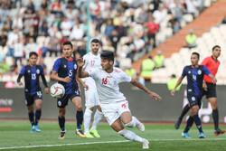 دیدار تیم های فوتبال ایران و کامبوج