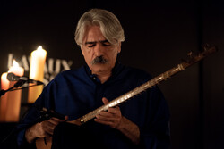 Kurdish Iranian musician Kayhan Kalhor performs in an undated photo.
