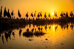 پیاده روی زائران اربعین درمناطق جنوبی عراق(الخضر در استان المثنی)