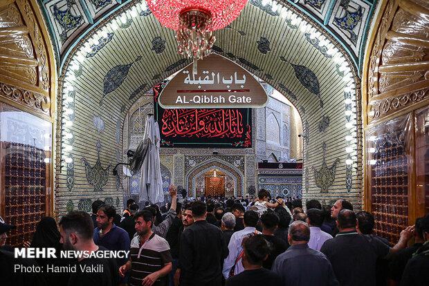 حال و هوای حرم امام علی (ع) در آستانه Imam Ali Shrine hosting Arbaeen pilgrims