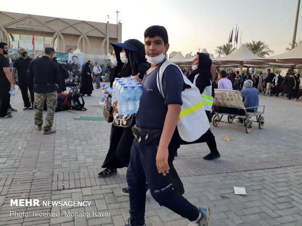 وضعیت آبرسانی در مرز مهران