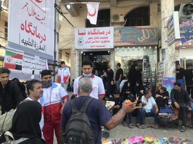 خدمترسانی به ۲۹ هزار زائر در عراق و ۲۶هزار زائر پیاده در مرزها