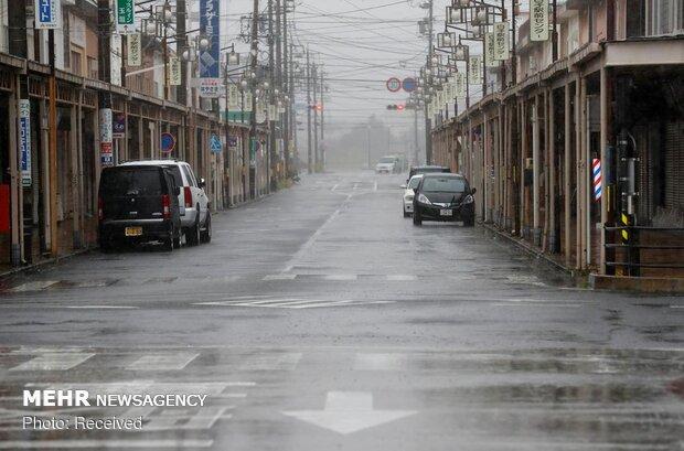 طوفان در ژاپن
