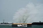 تصاویری از طوفان ژاپن در دریا و رودخانه