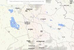 پیشبینی احتمال بارش پراکنده رگبار برای عراق در روز پنجشنبه