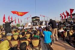 نوای حب الحسین یجمعنا در مسیر کربلا تماشایی شد/قرار در «عمود ۹۷۵»