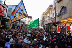 اربعین کے ایام میں نجف اشرف کی گلی گلی میں حسینی زائرین