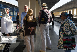 Golden Eagle passengers on tour across Iran