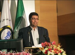 IME Head Hamed Soltani-Nejad speaking in a ceremony on launching futures contracts for pistachio deals at IME on Sunday