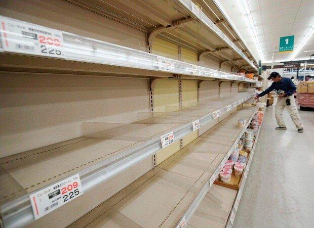 یورش مردم ژاپن به فروشگاهها به دنبال طوفان هاگیبیس