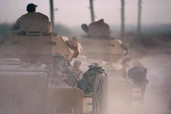 ورود ارتش ترکیه و شبه نظامیانش به عمق ۲۰ کیلومتری اراضی سوریه
