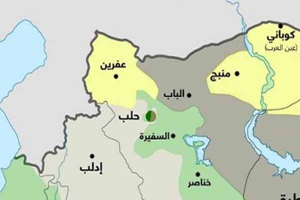 مانع تراشی ائتلاف آمریکایی در مسیر حرکت ارتش سوریه به سمت کوبانی