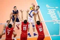 والیبال ایران و ایتالیا