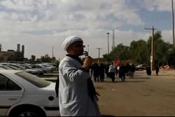 خدمترسانی روحانیون به زائران اربعین در مرز مهران