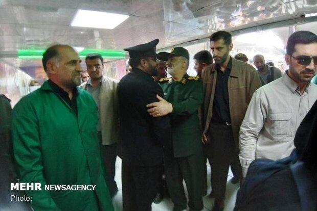 میجر جنرل سلامی کا شلمچہ کی سرحد پر حضور