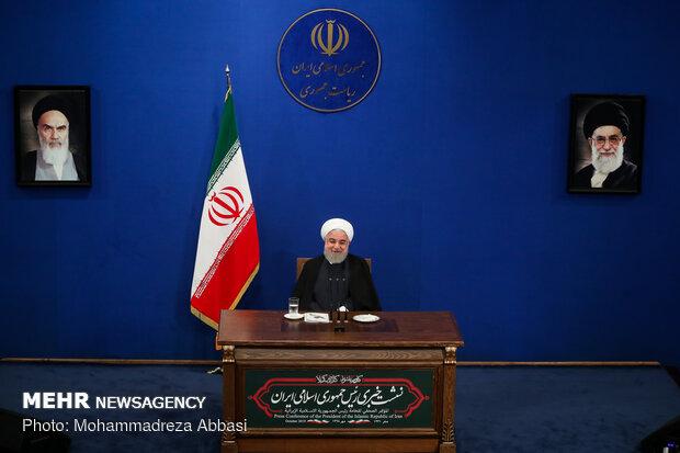 نشست خبری رئیس جمهور