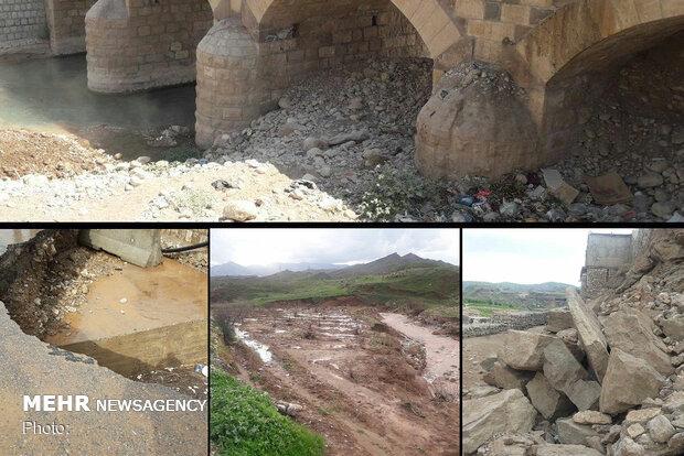 «افرینه» همچنان درگیر مصائب پساسیل/ دهانه پلها پاکسازی نشد