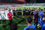 حضور شاهزاده بحرینی در تمرین تیم این کشور قبل از بازی با ایران
