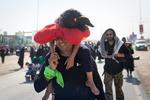 Irak'ta Kerbela'ya doğru yürüyen zairlerden muhteşem kareler