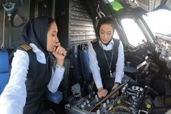Iranian female captain pilots Tehran-Mashhad flight