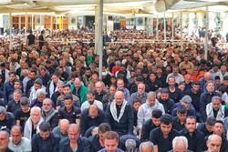 حرم حضرت علی علیہ السلام کے حرم میں نماز ظہر ادا کی گئی