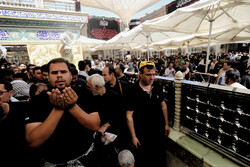 Performing noon prayers in Imam Ali (PBUH) holy shrine in Najaf