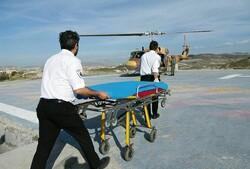 انتقال هوایی کودک مصدوم ملکانی با بالگرد هوانیروز
