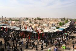 زائرین اربعین کا نجف اشرف میں وادی السلام میں حضور