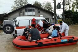 امدادرسانی به ۴۰۰سیل زده در گیلان/آب۵۰۰خانوار تا امروز وصل می شود