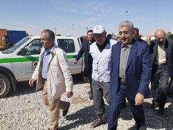 بازدید وزیر نیرو از مرز مهران
