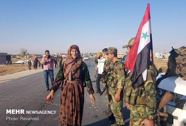 استقبال کردها از ارتش سوریه