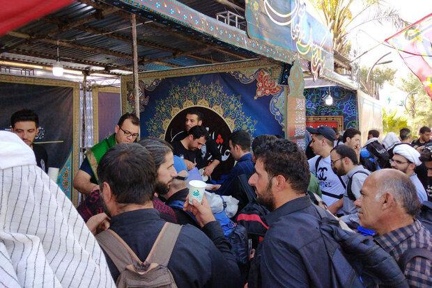ارائه خدمات بانک قرض الحسنه رسالت به زائرین اربعین حسینی