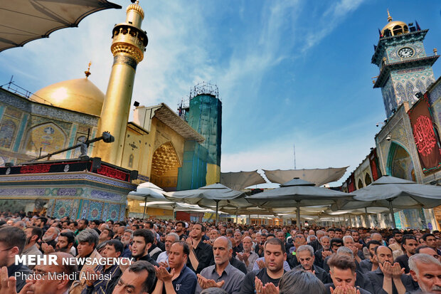 اقامه نماز در حرم امام علی (ع)