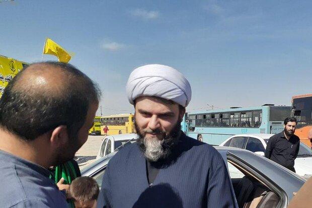 رئیس سازمان تبلیغات اسلامی از موکب های مرز مهران بازدید کرد