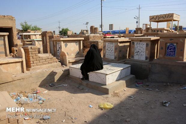 Arbaeen Pilgrims in Wadi-us-Salaam Cemetery