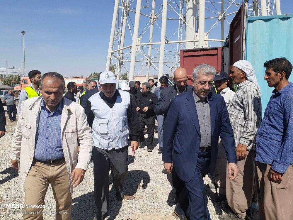 Energy min. pays visit to Mehran border