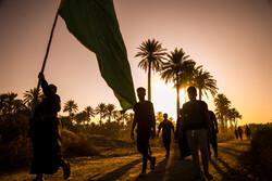 عراق کے صوبہ بابل سے زائرین کا کربلا کی سمت پیدل مارچ جاری