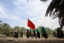 Arbaeen pilgrims in Babil Governorate, Iraq