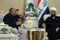 مسئولان ستاد اربعین لرستان با فرمانده عصائب الحق عراق دیدار کردند